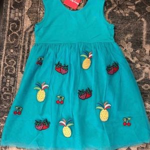 NWT! Hanna Andersson Fruit Patch Tulle Dress SZ 8